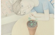 <p><em>Grow</em>, colored pencil on paper, 32 x 30 inches, 2011</p>