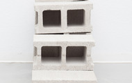 "<p><em>Long Exposure, </em>2013, cast urethane foam, cinderblocks, talc, 40""x16""x32""</p>