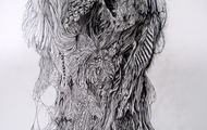 """<p><em>That Which Can Not Be Named #1 -&nbsp;</em>graphite on paper, 24x19"""" 2010</p>"""