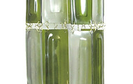 """<p style=""""text-align: left;"""">Points of Light #12, 2011</p> <p style=""""text-align: left;"""">7"""" x 7"""" x 20""""</p> <p style=""""text-align: left;"""">Recycled wine bottles and brass</p>"""