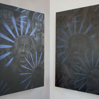 <p>Side views of St. Elmo's Fire showing effects of lighting</p>
