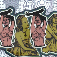"<p><em>Freedom Dreamers 1</em>, 2009, 16""x20"", Ink, acrylic and screenprint on three panes of glass.&nbsp;</p>"