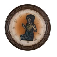 "<p><em>The Hours 6</em>, 2009, 9""diam. Ink, acrylic and polyurethane in clock.</p>"