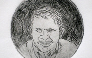 <p>Buck, 2012 / Drypoint / 3 inches diameter</p>