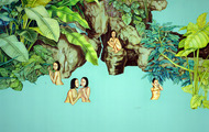 <p><em>Return To Paradise</em><span>, 2003, 68 x 94 inches, colored pencil and acrylic on panel</span></p>