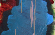 """<p><em>Quotidian 43</em><br />Oil on tracing paper<br />Approx 14"""" x 11""""<br />2013</p>"""