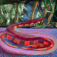 <p><em>Pet Snake Paradise,</em>acrylic and collage on paper,6 x 9 inches</p>