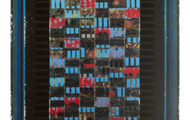 "<p><strong>BLACK &amp; BLUES</strong>&nbsp; &nbsp; &nbsp;1986-95 &nbsp; 63"" x 34""</p>"