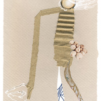 <p>Cherry Picker, 2014.&nbsp; Mixed media and found objects on fabriano paper, 8 x 6 inches</p>