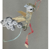 <p>Cloud Jumper, 2014.&nbsp; Mixed media and found objects on fabriano paper, 12 x 9.5 inches</p>