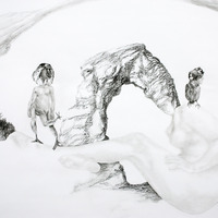 <p>Fuyapasa Landscape 2 : Girly Billy on the Mesa (detail 1), 2011.&nbsp; Graphite on bristol paper,&nbsp;36 x 144 inches</p>