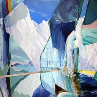 """<p><em><strong>Mirror Calving</strong></em>, 2013. Oil and acrylic on canvas, 60 x 45""""</p>"""
