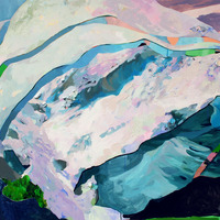 """<p><strong><em>Reunion</em></strong>, 2013. Oil and acrylic on canvas, 45 x 60""""</p>"""