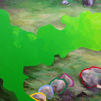 "<p><em><strong>All the World is Green,</strong></em><strong> </strong>2009.  Oil on canvas, 24 x 32""</p>"