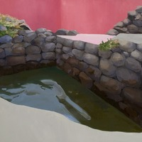 """<p><em><strong>Bathysphere,</strong></em><strong></strong>2008. Oil and acrylic on canvas, 30 x 60""""</p>"""