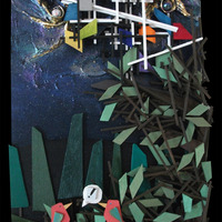 "<p>Smith - 12""x24"" Mixed Media on cradled birch panel. 2014</p>