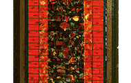 """<p><strong>RED ONION SKIN BLUES</strong>  1990  66"""" x 24""""</p>"""