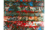 """<p><strong><em>Page</em> series</strong>&nbsp; &nbsp;<strong>1987 &nbsp; 8.5"""" x 11""""</strong></p> <p>Urethane &amp; clear tape over mixed media</p>"""