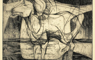 <p><em>Goat in Landscape</em>, 1963, Etching on paper, 9 X 7.5 inches.</p>