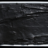 """<p><span>Blackness - 10""""x20"""" Mixed media on stretched canvas. Framed. 2015</span></p>"""