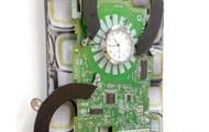 <p>Green Button Clock, 2015</p>