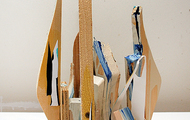 <p><span><em>Empire 2</em>, 2015</span><br /><span>wood, plywood, acrylic, collage, paper, and latex</span></p>