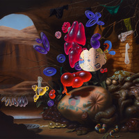 """<p>""""Grotto With Nietzsche and Anal"""", 2015, Oil/Linen, 48x72""""</p>"""