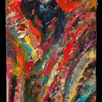"<p>Juicy - 10""x30"" Mixed media on stretched canvas. 2014.</p>