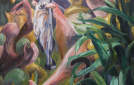 <p><em>Our Champ (First Place Women's Division)</em>  84 x 54 inches   oil on canvas</p>