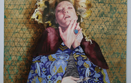 """<p><em>Protect Me From Myself</em></p> <p>2013-2015</p> <p>Watercolor, gouache, colored pencil, gold leaf, acrylic, and glitter on paper&nbsp;</p> <p>54"""" x 42""""&nbsp;</p>"""