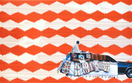 """<p><span>Wendy Red Star</span><br /><em>Yakima or Yakama – Not For Me To Say</em><br /><span>three-color lithograph with archival pigment ink photograph</span><br /><span>24 x 40 inches</span><br /><span>edition size 20</span></p> <p><span><span>CSP-15-102 A three-color lithograph on Somerset Satin White with laser cut archival pigment ink photograph printed on Moab Entrada. Image & paper size 24 x 40 inches. Edition of 20. Collaborating printer, Frank Janzen, TMP. Started August 22, 2015; completed January 23, 2016.</span></span></p> <p></p> <p><a href=""""http://crowsshadow.org/print/yakima-yakama-not-say/"""">http://crowsshadow.org/print/yakima-yakama-not-say/</a></p>"""