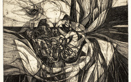 <p><em><strong>They Opened the Bag, The Winds leaped Out</strong></em>, 1964, Etching on paper, </p>