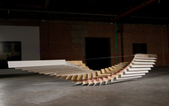 <p><em>Inside Out |&nbsp;</em>insulation, plywood, and sheetrock | h 36&rdquo; w 240&rdquo; d 48"