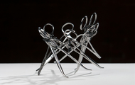 "<p><em>I Made It (Series #1) DETAIL</em> | used surgical tools and zip ties | h 4"" w 7"" d 7"" 