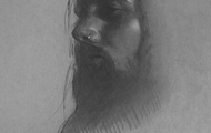 """<p><em>""""That guy...""""</em></p> <p>9""""x12""""</p> <p>Graphite and white charcoal on grey toned paper</p>"""
