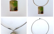 <p>wood and resin chokers are $75</p>
