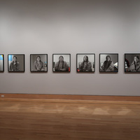 """<p>TITLE: Grandmothers ~I Come As One, I Stand As Ten Thousand~</p> <p>(Twenty portraits of Crow Women by Cree photographer Richard Throssel)</p> <p>MEDIUM: MIRROR, SOURCED DIGITAL IMAGES FROM UNIVERSITY OF WYOMING AMERICAN HERITAGE CENTER, RICHARD THROSSEL PAPERS, PRINTED ON PHOTO TEX</p> <p>DIMENSION: 27.5"""" X 27.5""""</p> <p></p>"""