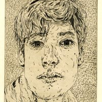 """<p align=""""center"""">Landon No.1</p> <p align=""""center"""">5&rdquo;by6.5&rdquo; etching on 11""""by15"""" paper. 2018.</p>"""