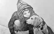 <p>KYAN AND THE DOG</p>