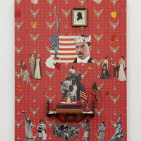 <p>Genevieve Gaignard<br /><em>White Man (Makes Me Wanna Hollar)</em>, 2019<br />Mixed Media on Panel<br />48 x 36 x 7 inches</p>