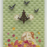 <p>Genevieve Gaignard<br /><em>Breakable, 2019&nbsp;</em><br />Mixed Media on Panel<br />48 x 36 x 5.5 inches</p>