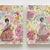<p>Genevieve Gaignard<br /><em>Flora and Fauna, 2020&nbsp;</em><br />Mixed media on Panel<br />14 x 11 x 1.75 inches&nbsp;</p>
