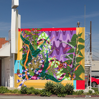 <p>Songs For My Father, Bouquets For My Mother, 2019, Spray paint and latex paint 15 x 20 feet | 4.5 x 6 Meters (Los Angeles, California) Commissioned by 18th Street Art Center</p>