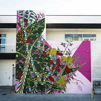 <p>Grow, 2018, Spray paint and latex paint&nbsp;24 x 26 Feet   7.5 x 8 Meters (Painted in Lancaster, California) Commissioned by Museum Of Art And History (MOAH)</p>